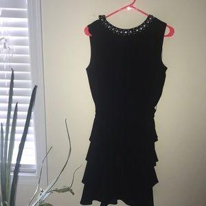 S.L Fashion Black Jeweled Dress